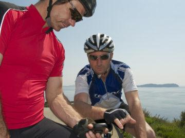 Navi bei Radtour